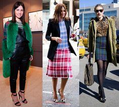 Las fashion insiders lo tienen claro, pero tú ¿con qué otro estampado mezclas los cuadros?