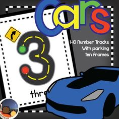 This product is a fun way for children to learn how to count to 10, recognize numbers 1-10 and begin to recognize how to write 1-10.  This product is meant to be used with small toy cars (Matchbox, Hotwheels, etc.).