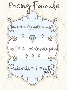 pricing formula craft-booths-bazaars
