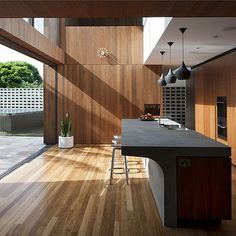 Get inspired decor inspiration - Flipped House MCK architects - Sydney at by design Concrete Bench, Concrete Kitchen, White Cupboards, Window Benches, Kitchen Benches, Home Decor Store, Open Kitchen, Interior Architecture