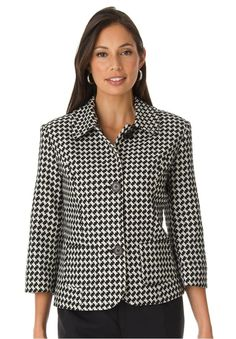 Jessica London Women's Plus Size Cropped Blazer at Amazon Women's Clothing store: