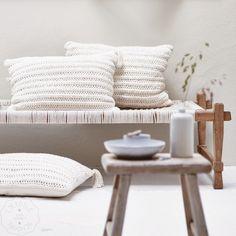 Handmade braided cushion from Nepal