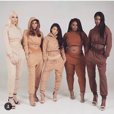 """a-fairy-named-eleri: """"I love how not only are these women different skin tones but they're also different body types. Black Girls, Black Women, Only Play, Nude Color, Black Is Beautiful, Beautiful People, Real Women, Summer Looks, Diversity"""