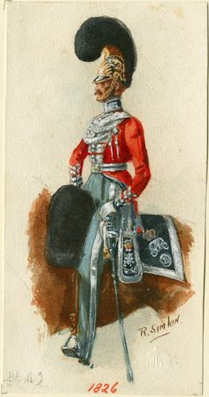 British; 4th (Royal Irish) Dragoon Guards Officer 1826 by Richard Simkin