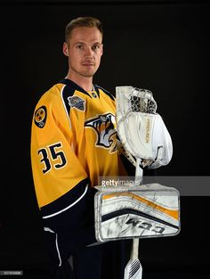 Pekka Rinne #35 of the Nashville Predators poses for a 2016 NHL All-Star portrait at Bridgestone Arena on January 30, 2016 in Nashville, Tennessee.