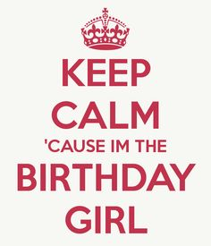 Yes, I'm the birthday girl :)