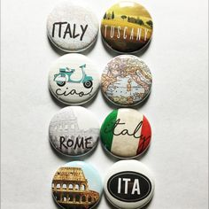 Italy Flair by aflairforbuttons on Etsy