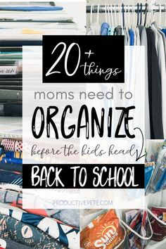 These Back to School Organization Ideas for busy parents includes easy diy ideas and hacks to organize your home, car, paperwork piles & meal prepping. Back To School Organization, Back To School Hacks, Going Back To School, Life Organization, The New School, New School Year, I School, First Day Of School, School Ideas