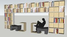 Library bookcase - 3D Warehouse