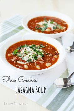 Slow Cooker Lasagna Soup: Italian classic made into an easy dinner that your family is sure to love.