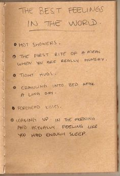 best feelings.