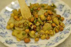 How to make Chana chaat (Kolkata Street Food special) - Indian Recipes, Vegetarian Recipes