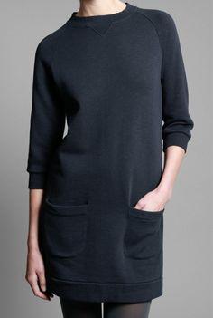 Sweatshirt dress  And the SAHM s rejoiced! Black Clothes, Sweatshirt Dress, Dress  Robes bbab2d7db116