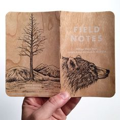 steelbison:  Had a ton of fun drawing on the first, so I did another. #FieldNotesBrand #bear #illustration