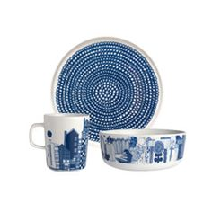 I love this collection, it's like a modern twist on the ol´willow pattern designs!