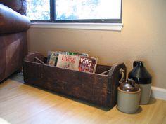 Wood Carpenter's Saw Box Tool Caddy Box by Itzvintagedarling, $195.00