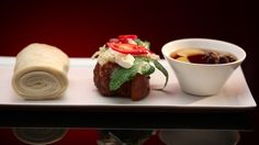 Ashlee and Sophia's Pork Belly with Caramel Sauce from S4 of MKR: http://gustotv.com/recipes/lunch/pork-belly-caramel-sauce/