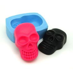 Big Skull Head 31mm Flexible Silicone Mould diy Jewelry Mold Scrapbooking Mould Fimo Polymer Clay Mould 350L BEST QUALITY on Etsy, $6.25