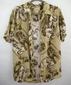 Panama Jack size M mens hawaiian shirt! Has one small hole near neck, under the collar. See last photo. 100% Rayon, soft fabric. Measurements laying flat: Shoulders 18 Chest 22 Length 27 Comes from a non smoking home. If you have any questions or would like more pictures please dont hesitant to ask! :)