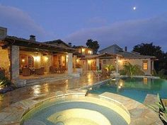 I love neat pools and patios!