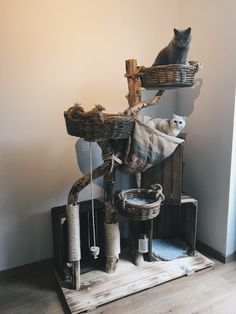 Natural cat tree - Ole, the largest for the little ones. This cat tree was . - Natural cat tree – Ole, the largest for the little ones. This cat tree was created together with - Cat Castle, Cat Tree House, Diy Cat Tree, Cat Enclosure, Cat Room, Cat Condo, Pet Furniture, Cat Accessories, Diy Stuffed Animals
