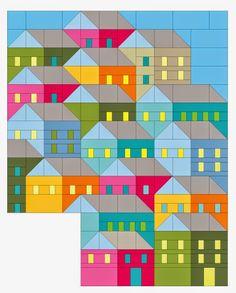 Pretty Little Quilts: Block 1 - Hillside House QAL