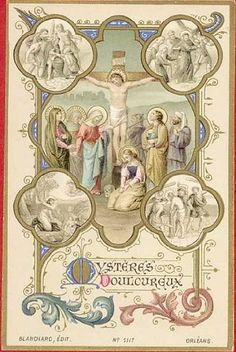 MYSTERES DOULOUREUX - Holy card / Image pieuse / Andachtsbildchen