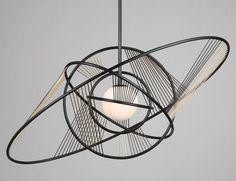 Helios pendant light by Pouenat Ferronnier. Decorex International 2012
