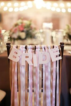 30 awesome wedding sign decor ideas for bride & groom chairs. Bridal Shower Chair, Bridal Shower Games, Bridal Shower Decorations, Wedding Decorations, Bridal Showers, Bridal Shower Banners, Table Decorations, Wedding Blog, Diy Wedding
