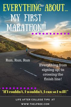 What kind of crazy person signs up to run miles? What's the point? So you finished now what? Keep reading for the answers to these questions and more! My New River Marathon story! Let's see if I can convince you to run a marathon with me! Training Plan, Marathon Training, Life Advice, Good Advice, Crazy Person, First Marathon, After College, Running For Beginners, New River