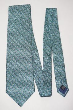 Ties-to-Nature-Green-amp-Blue-Butterfly-Repeat-Art-Animal-Silk-Mens-Neck-Tie-57-034-L