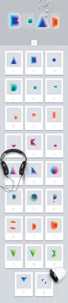 Beat Typography- Symbol font inspired with music vibrations- Polar Vectors Creative Typography, Creative Fonts, Typography Letters, Lettering, Typography Design, Fonts For Mac, New Fonts, Cd Cover Design, Modern Fonts