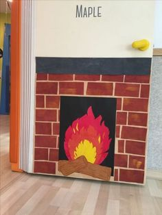 fireplace door decoration