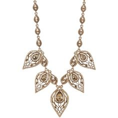 Natasha Accessories Leaf Crystal Necklace ($19) ❤ liked on Polyvore featuring jewelry, necklaces, gold, crystal jewellery, crystal stone jewelry, leaves necklace, gold tone jewelry and crystal jewelry