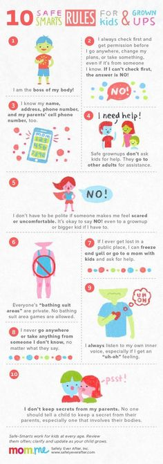 10 rules to keep your kids safe - teach your kids these rules today!