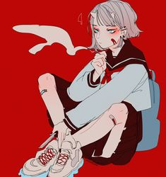 Uploaded by Find images and videos about anime, illustration and anime girl on We Heart It - the app to get lost in what you love. Aesthetic Anime, Aesthetic Art, Pretty Art, Cute Art, Manga Art, Anime Art, Character Inspiration, Character Art, Art Sketches