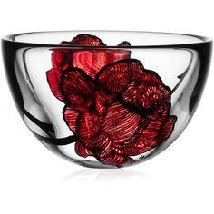 Kosta Boda Rose Tattoo Bowls found on Polyvore