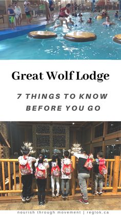 7 Things to Know Before You Go to Great Wolf Lodge – Nourish Through Movement Travel With Kids, Family Travel, Games For Kids, Activities For Kids, Great Wolf Lodge, Activity Games, Mom And Baby, Story Time, Things To Know