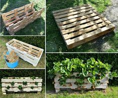 How to DIY Vertical Strawberry Planter from Recycled Pallet | www.FabArtDIY.com