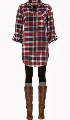 nordstrom oversized flannel, black spandex, tall socks, steve madden boots (or hunter books)