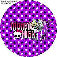 """Imprimés Thème """"Monster High"""" - Etoiles : http://fazendoanossafesta.com.br/2012/11/monster-high-roxo-e-pink-kit-completo-com-molduras-para-convites-rotulos-para-guloseimas-lembrancinhas-e-imagens.html/"""