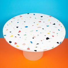 Terrazzo, Studio Furniture, Furniture Design, Terracotta, Memphis Furniture, Slow Design, Coffee Table Dimensions, Round Coffee Table, Custom Paint