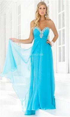 Baby Blue Prom Dress Sweet Heart Neckline