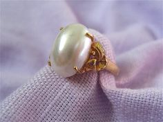 Vintage Mabe Pearl Ring