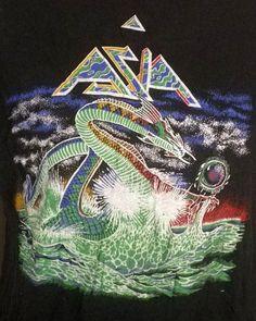 vtg 80s RARE original 1982 ASIA BAND CONCERT T-SHIRT TOUR yes ELP king crimson L