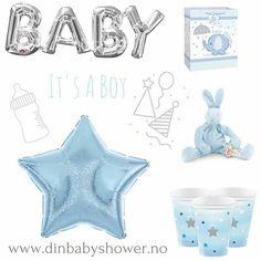 Flott bilde laget av @littleshabbyy av noen av våre søte produkter Vi har det du trenger til #babyshower #dåp og #navnefest. #detlilleekstra #boy #gutt #dinbabyshower #nettbutikk #inspiration #gaver #ballonger #pynt www.dinbabyshower.no
