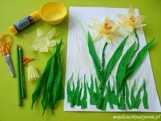 Wiosenne zabawy i inspiracje 20 pomysłów - Moje Dzieci Kreatywnie Art For Kids, Crafts For Kids, Twas The Night, Flower Crafts, Art Lessons, Spring, How To Make, Craft Ideas, Creative Workshop