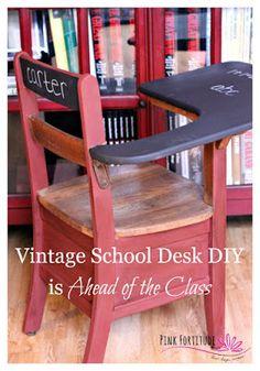 DIY Vintage School Desk Upcycle Makeover