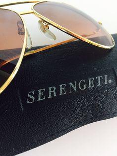 00a0b14701 Vintage EyeWear Serengeti Sunglasses Drivers Glasses Gold Frame 5225K  Corning Optics Aviators