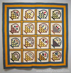 Antique Baskets Quilt, circa 1860.  Brooklyn Museum exhibit 2013; photo by Made By Chrissie D